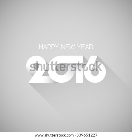 2016 Happy New Year - stock vector