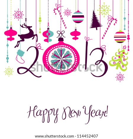 2013 Happy New Year background. - stock vector