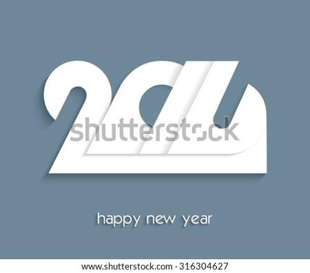 2016 Happy New Year creative design for your greetings card - stock vector