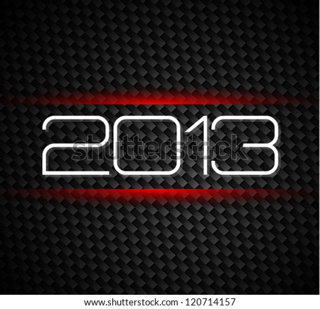 2013 hight tech style new year background over a carbonic background - stock vector