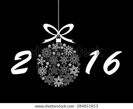 2016 Holiday Background - stock vector