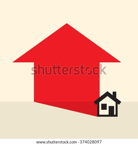 home prices expected to rise - stock vector