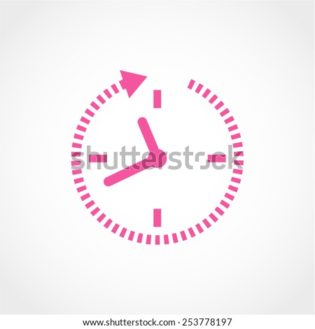 24 hour assistance, clock Icon Isolated on White Background - stock vector