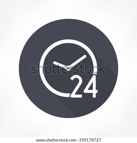 24 hours icon - stock vector