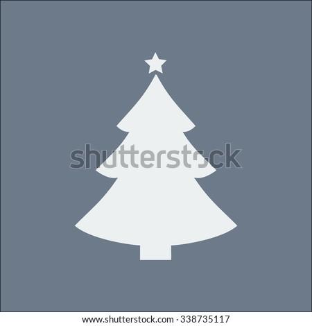 Ð¡hristmas tree flat icon - stock vector