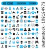 100 icons for education science - vector icons - stock vector