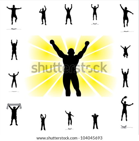 Icons for sports championships . - stock vector