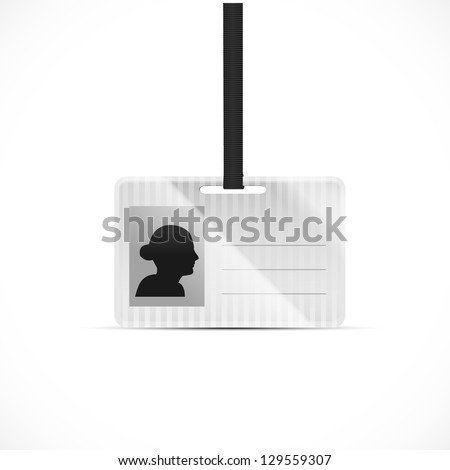 Id holder with avatar - stock vector