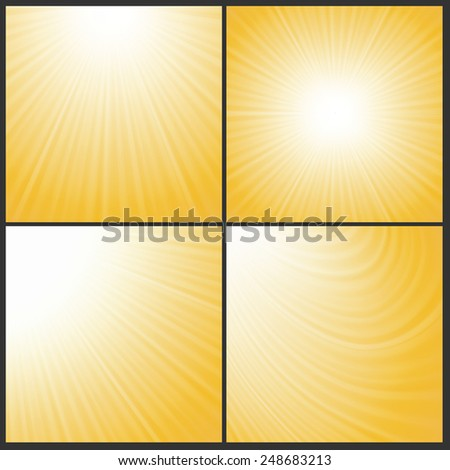 illustration  with abstract sun wave backgrounds - stock vector