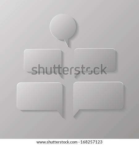 illustration with speech bubbles  for your design - stock vector