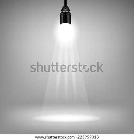 illustration with  spotlight background for your design - stock vector
