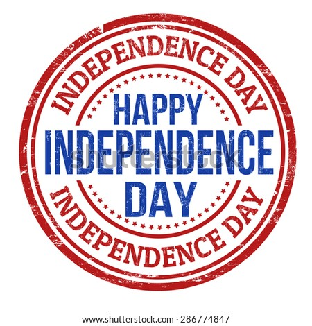 Independence Day grunge rubber stamp on white background, vector illustration - stock vector