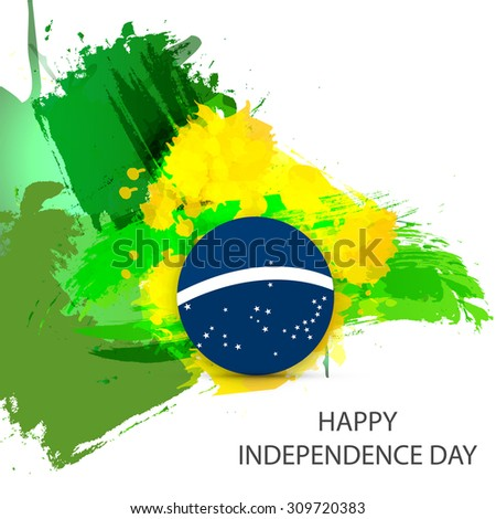 Independence Day of Brazil. - stock vector
