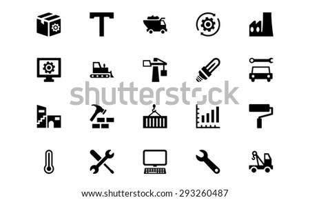 Industrial Vector Icons 5  - stock vector