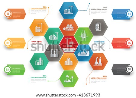 Industry,cargo concept info graphic design,vector - stock vector
