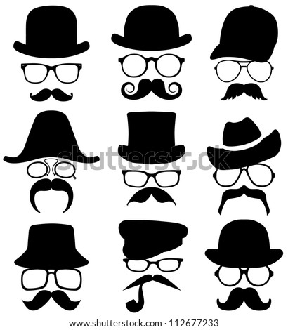 9 invisible men - stock vector