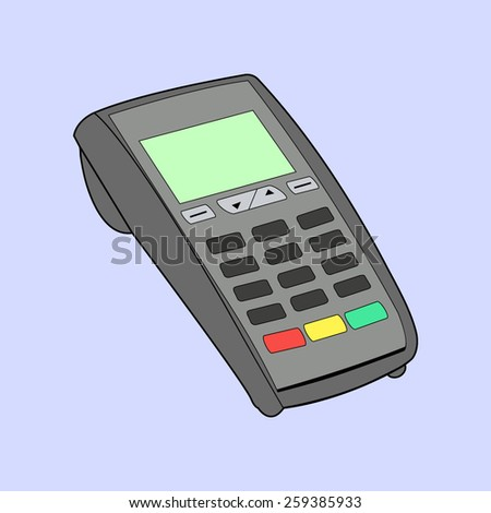 keypad and POS- Terminal - simple icons - stock vector