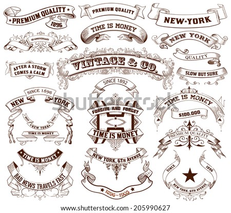 23 Labels and banners. Vector - stock vector