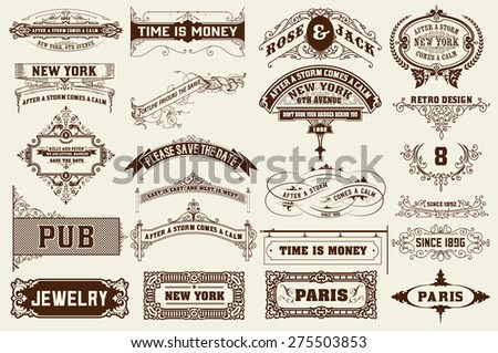 22 Labels and banners. Vector - stock vector