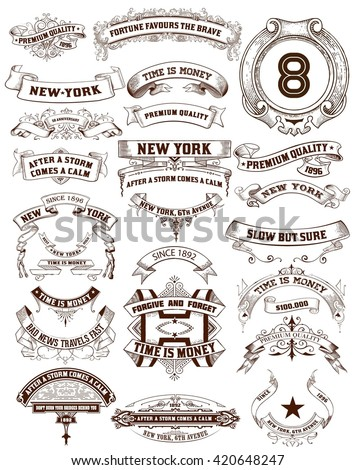 26 Labels and banners. Vector illustration - stock vector