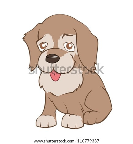 Little puppy - stock vector