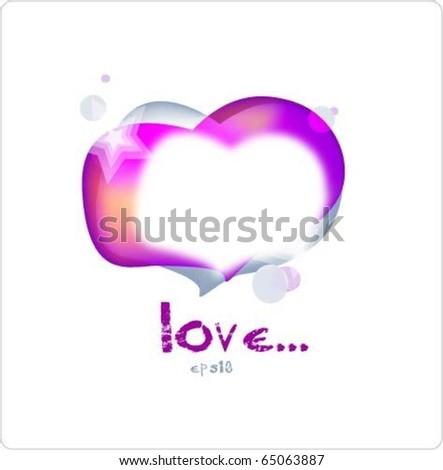 love speech bubble - stock vector