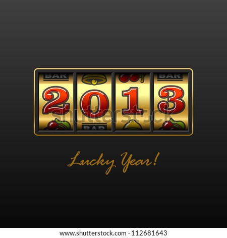 2013 - Lucky Year! Vector. - stock vector