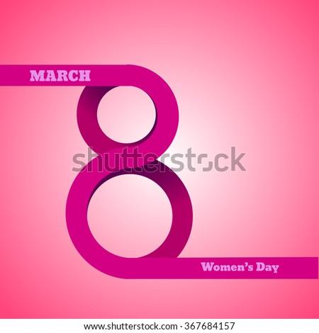 8 March, International Women's Day vector eps 10 - stock vector