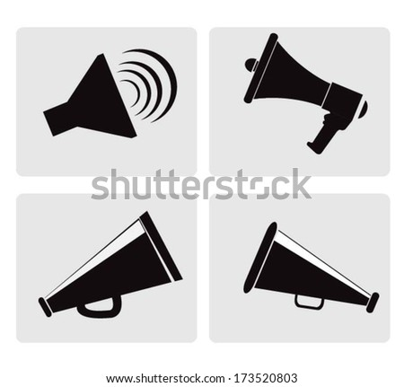 megaphone, promotion marketing concept - stock vector