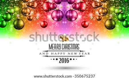 2016 Merry Christmas and Happy New Year Background for Seasonal Greetings Cards, Parties Flyer, Dineer Event Invitations, Xmas Cards and sp on. - stock vector