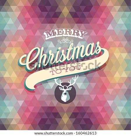 """Merry Christmas"" Poster. Vector illustration. - stock vector"