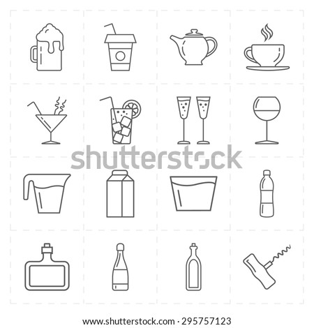 16 modern flat bar icons - stock vector