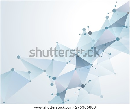 molecular polygonal background abstract eps10 vector illustration - stock vector