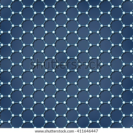 Molecular structure, atomic structure and science concept. Technology molecular sieve. Seamless Abstract background. Vector illustration - stock vector