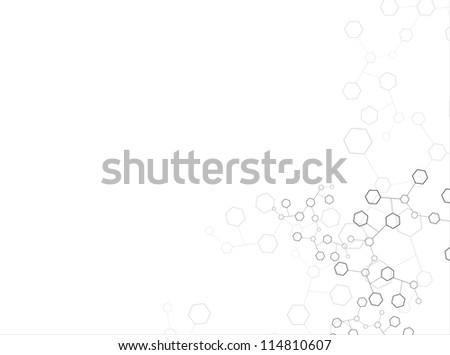Molecular structures - stock vector