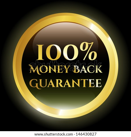 100% Money Back Guarantee Icon  - stock vector
