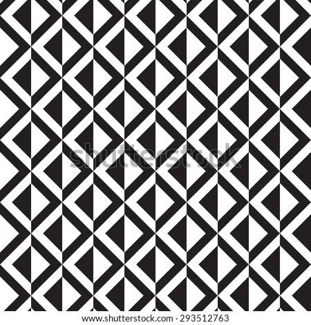 monochrome geometric pattern - stock vector