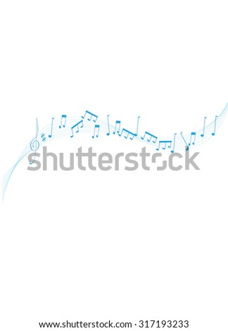 Music wave - Illustration Music, Musical Note, Sheet Music, Musical Staff, Backgrounds  - stock vector