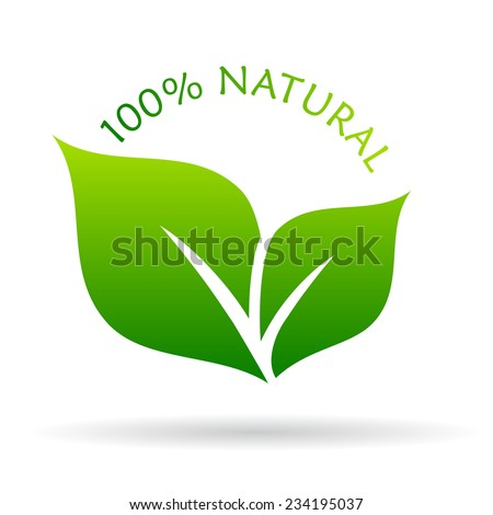100 natural icon - stock vector