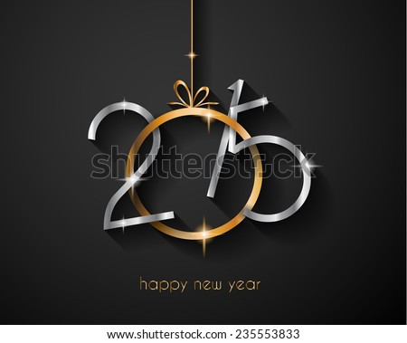 2015 New Year and Happy Christmas background for your flyers, invitation, party posters, greetings card, brochure cover or generic banners. - stock vector