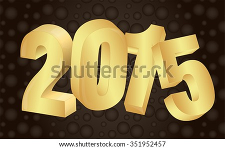 2015 new year background Vector EPS 10 illustration - stock vector