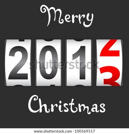 2013 New Year counter, vector. - stock vector