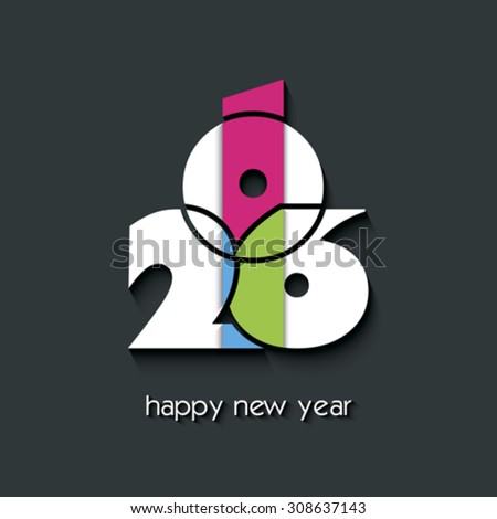 2016  new year creative background for your greetings card, flyers, invitation, posters, brochure, banners, calendar - stock vector