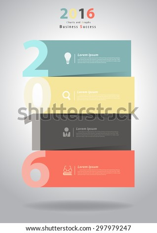 2016 New Year layout template design, brochure, flyer, magazine cover, poster banner, Vector illustration - stock vector