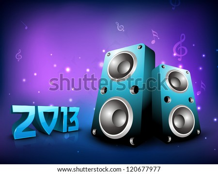 2013 New Year Party Background. EPS 10. - stock vector