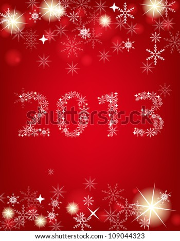 2013 New Year postcard. Vector illustration - stock vector