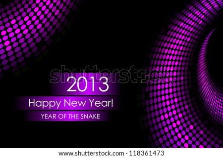"""2013 new year - """"snake"""" background - stock vector"""