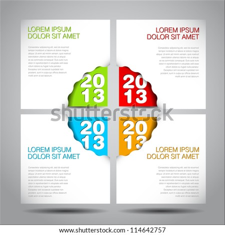 2013 - New Year vector corner for your web site or card - stock vector
