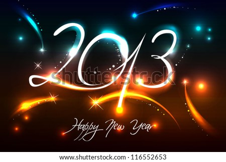 New Years banner for 2013 with back light and place for your text - stock vector