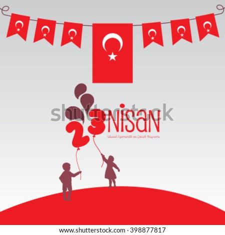 23 nisan, 23 April Children's day - stock vector